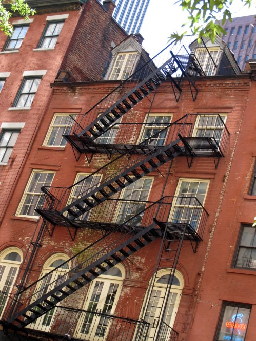 Downtown fire escape